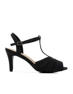 Sandalo in camoscino nero