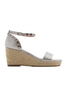 Sandalo argento con zeppa...
