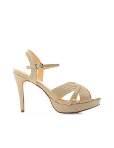 Sandalo vernice nude con...