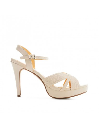 Sandalo beige con plateau