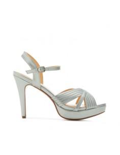 Sandalo argento con plateau