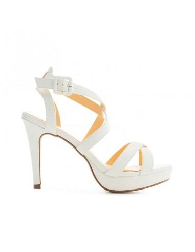 Sandalo bianco con cinturino incrociato