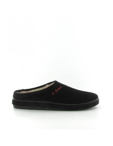 Pantofola camoscio nero