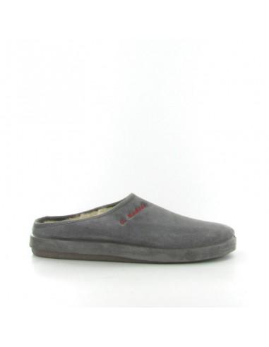 Pantofola camoscio grigio