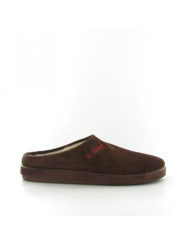 Pantofola camoscio marrone
