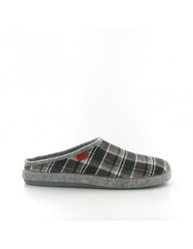 Pantofola quadri grigio