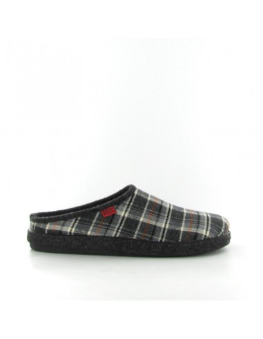 Pantofola quadri nero
