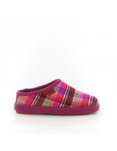 Pantofola quadri fucsia