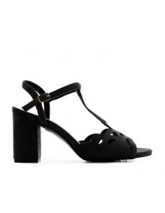 Sandalo nero T-bar