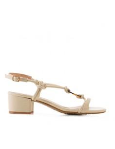 Sandalo crema con accessorio