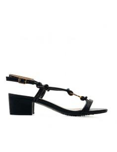 Sandalo nero con accessorio