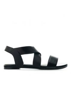 Sandalo nero con elastici