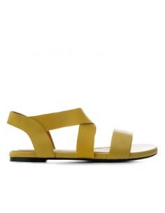 Sandalo senape con elastici