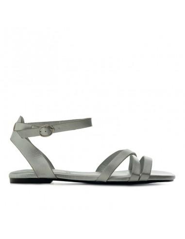 Sandalino argento con cinturino