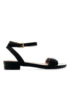 Sandalo nero con fascia...