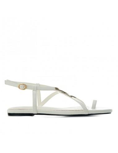 Sandalo bianco con infradito