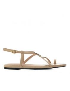 Sandalo beige con infradito