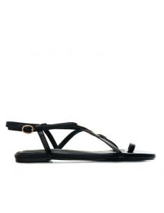 Sandalo nero con infradito