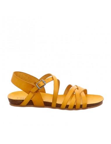 Sandalo Cosmos in pelle senape
