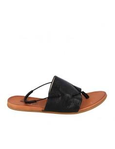 Sandalo fascia in pelle nera