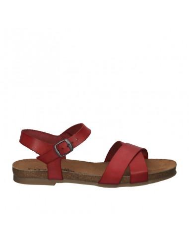 Sandalo Cosmos pelle rossa