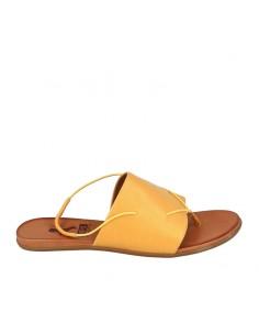 Sandalo fascia in pelle senape