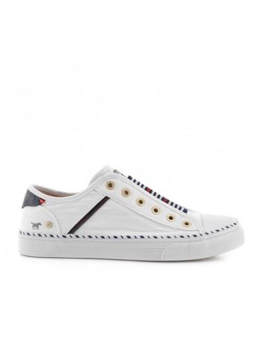 Sneaker tela bianca Mustang Shoes