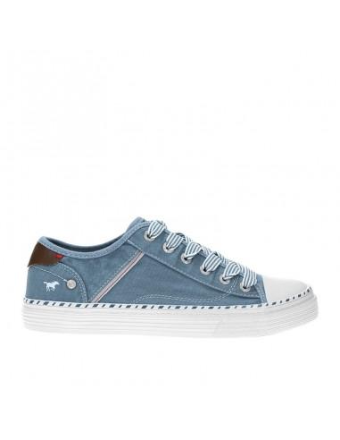 Sneaker tela blu cielo Mustang Shoes